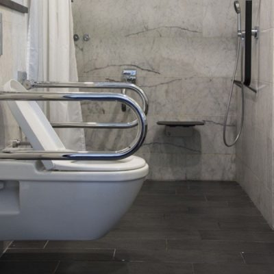 Modern disabled adapted bathroom